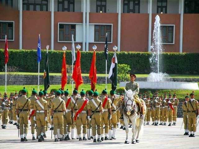 Passing out parade of PMA 143 Long Course held at PMA Kakul