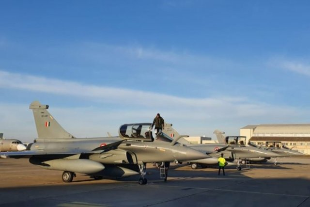Three More French Rafale Jets Land in India
