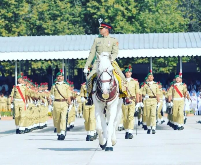Passing out parade of PMA 144 long course held at Pakistan Military Academy Kakul